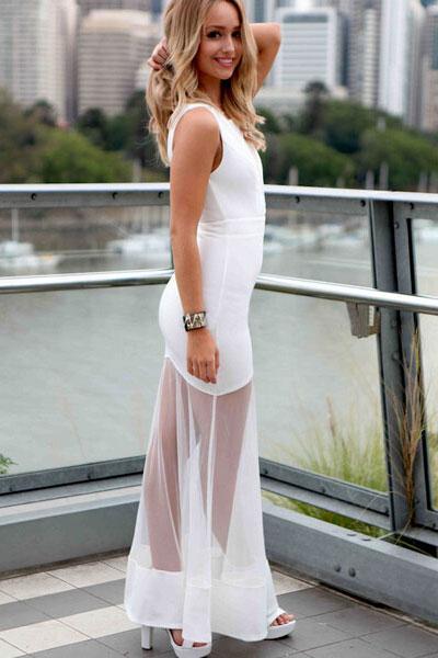9432fbbdda9 01 Společenské šaty dlouhé průtsviné bílé