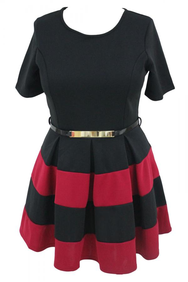 f01057c34a3d 02 Dámské šaty pro plnoštíhlé Red