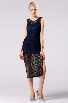 ... 01 Společenské šaty krajkové černé modré 2v1 158c4f2931
