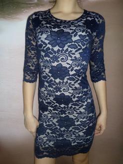 72b399289ced ... 01 Dámské společenské celokrajkové šaty modré
