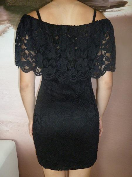 01 Dámské společenské celokrajkové šaty černé 0ddbd618ab