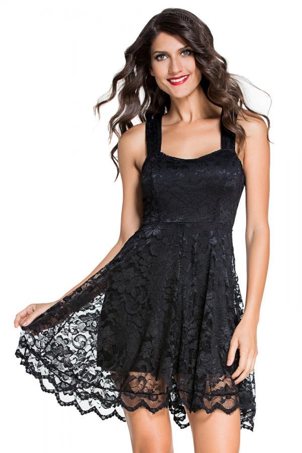 01 Společenské šaty Amanda krajkové černé d6ffb0a88e